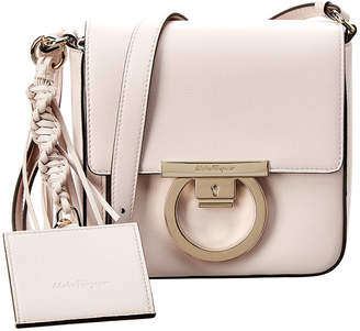 Salvatore Ferragamo Gancini Lock Leather Crossbody