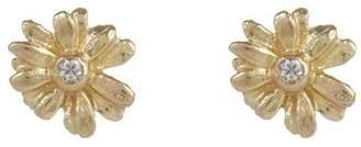 Alex Monroe Teeny Tiny Gold Daisy Diamond Stud Earrings