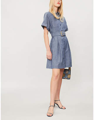 Diane von Furstenberg Belted denim shirt dress