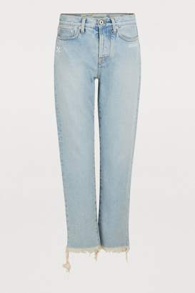 Off-White Off White Faded slim jeans