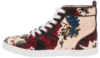 Christian Louboutin Orlato Velvet Sneakers