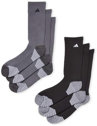 adidas 6-Pack Ministripe Crew Socks