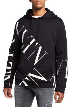 Valentino Men's VLTN Logo Hoodie Sweatshirt