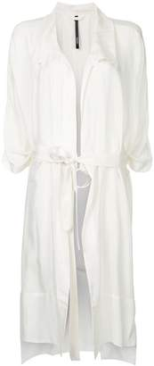 Taylor Tucked Cocoon trench coat