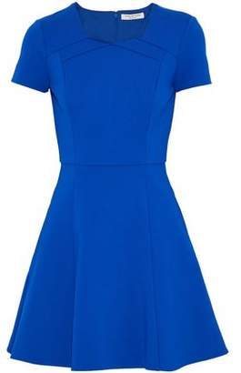 Halston Fluted Stretch-Ponte Mini Dress