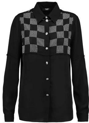 Versace Stud-Embellished Chiffon Blouse