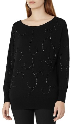 REISS Poise Embellished Sweater $265 thestylecure.com