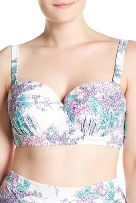 Lush Raisins Curve Floral Bikini Top (Plus Size)