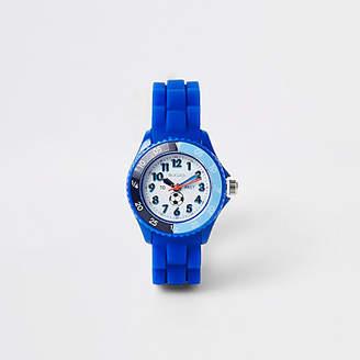 River Island Boys blue rubber strap sport watch