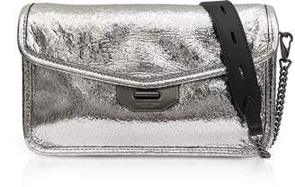Rag & Bone Silver Crackle Leather Field Clutch