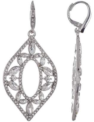 Jenny Packham Crystal Pave Chandelier Drop Earrings