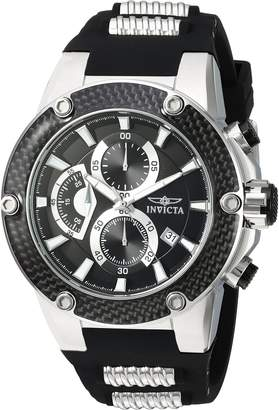 Invicta Men's 'Speedway' Quartz Stainless Steel and Silicone Casual Watch, Color: (Model: 22400)