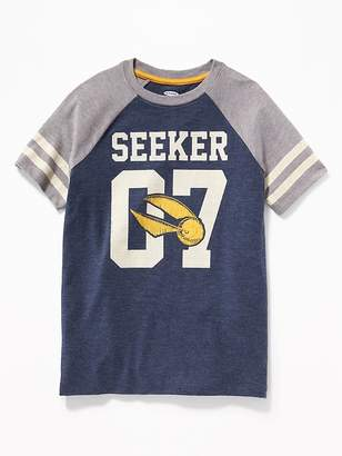 "Old Navy Harry Potter ""Seeker 07"" Team-Style Tee for Kids"