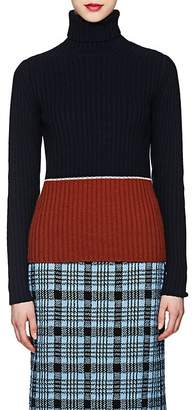 Dries Van Noten Women's Colorblocked Merino Wool-Cashmere Sweater