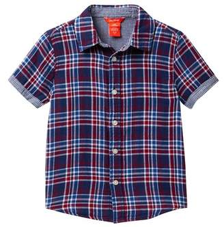 Joe Fresh Double Gauze Short Sleeve Shirt (Little Boys & Big Boys)