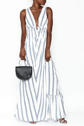Hommage Annabelle Striped Maxi Dress