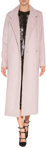 Roksanda Ilincic Wool-Mohair Blend Orson Coat in Mink