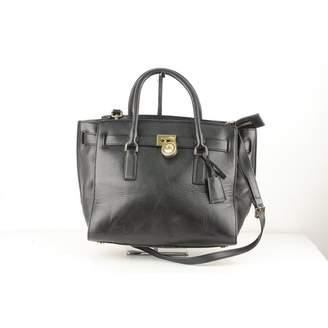 2e91cddf90004 MICHAEL Michael Kors Hamilton Black Leather Handbag