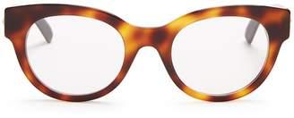 Gucci Crystal-star embellished cat-eye acetate glasses