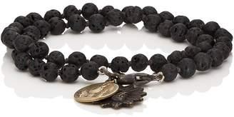 Miracle Icons Men's Vintage-Icon Beaded Wrap Bracelet