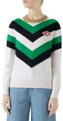 Gucci Embellished Crewneck Wool Top