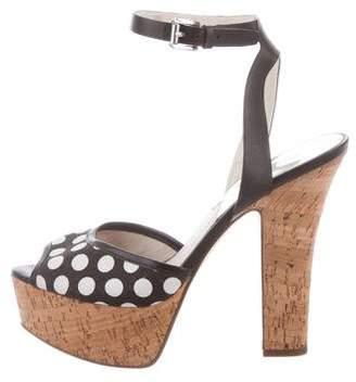 MICHAEL Michael Kors Polka Dot Ankle-Strap Sandals