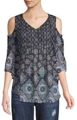 Style&Co. Style & Co. Cold Shoulder Elbow Sleeve Blouse