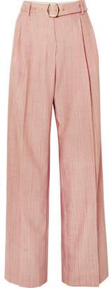 Sies Marjan - Blanche Striped Wool-blend Pants - Red