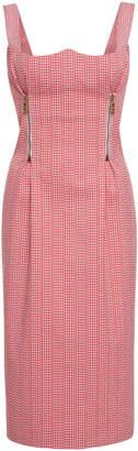 Versace Curved Neckline Knee Length Dress