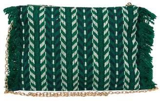 Pink Haley Knit Crossbody Clutch