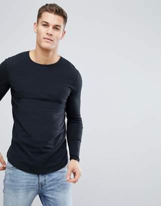 Jack and Jones Long Sleeve Longline T-Shirt