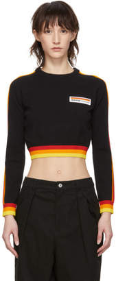 Opening Ceremony Black Cropped Stripe Sweater