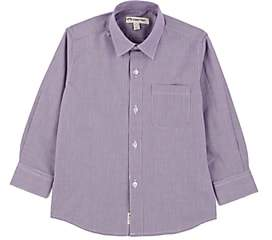 Appaman Kids' Houndstooth-Print Cotton Dress Shirt-Purple