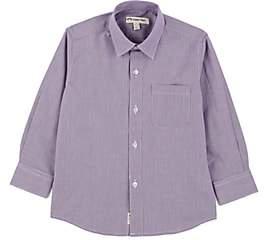 Appaman Kids' Houndstooth-Print Cotton Dress Shirt - Purple