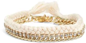 Ettika Braided Crystal Bracelet