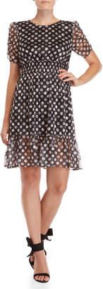 Betsey Johnson Ruffled Polka Dot Dress