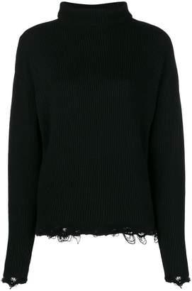 IRO distressed knit sweater
