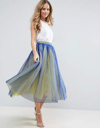Asos Tulle Prom Skirt with Two Color Layers