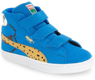 PUMA Suede Sesame Street - Cookie Monster High Top Sneaker (Toddler & Little Kid) $65 thestylecure.com