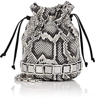 Tomasini Women's Lucile Python-Stamped Leather Mini Bucket Bag