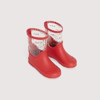 Burberry Logo Print Rubber Rain Boots