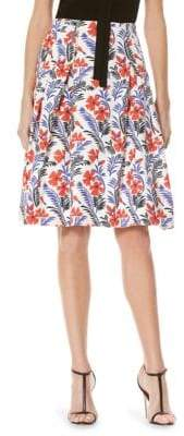Carolina Herrera Floral Printed Skirt