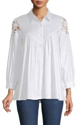 Lumie Pintucked Floral Blouse