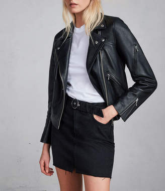 AllSaints Prescott Leather Biker Jacket