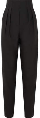 Tibi Yasmeen Crepe Tapered Pants - Black