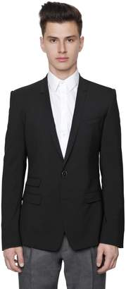 Dolce & Gabbana Stretch Wool Toile 2 Button Jacket