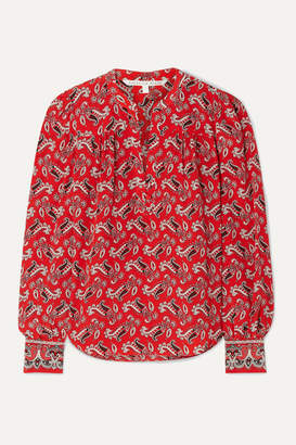 Veronica Beard Abbie Paisley-print Silk-crepe Blouse - Red