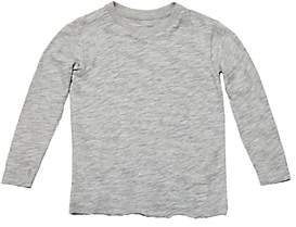 ATM Anthony Thomas Melillo Kids' Cotton Long-Sleeve T-Shirt-Gray