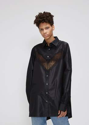 Maison Margiela Long Sleeve Lace Inset Shirt