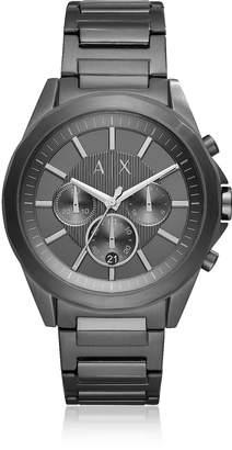 Armani Exchange Drexler Black Dial and Black Tone Stainless Steel Men's Chronograph Watch
